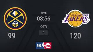 Nuggets @ Lakers | NBA on TNT Live Scoreboard | #WholeNewGame