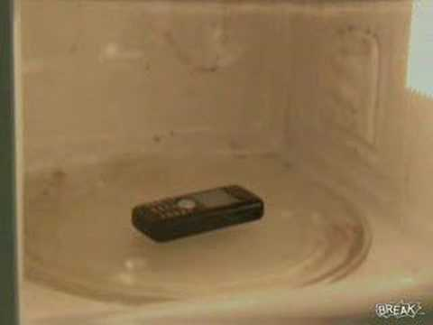 Cell Phone in Microwave—DO NOT TRY THIS AT HOME!