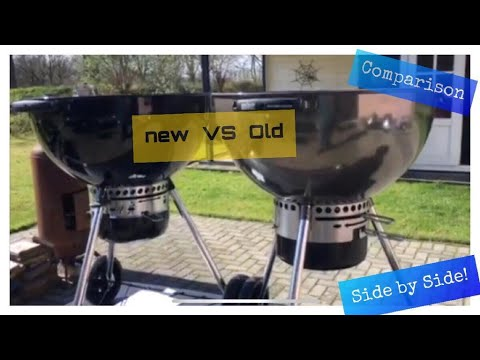 Weber Master Touch Premium 2019 E-5775 & 2015 MT BBQ Side by Side