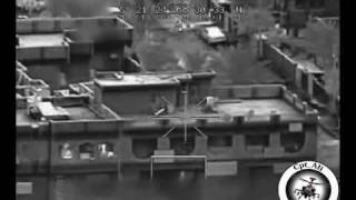 Apache Engage Insurgents Hiding In A Building With 2 Hellfire Missiles