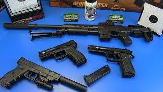 Gun toys - Box of Toys ! Military Guns - Video for kids ,the best airsoft guns..