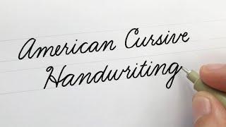 American Cursive Handwriting | For Beginners