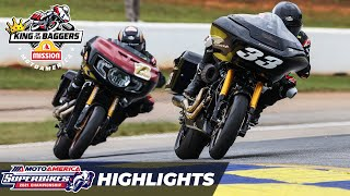 MotoAmerica Mission King Of The Baggers Race Highlights at Road America 2021