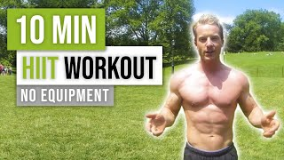 10 Minute Bodyweight Fat Torching HIIT Workout by Live Lean TV