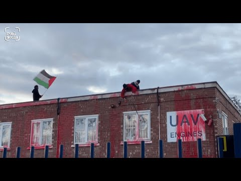 Breaking footage from Palestine Action weapons factory occupation