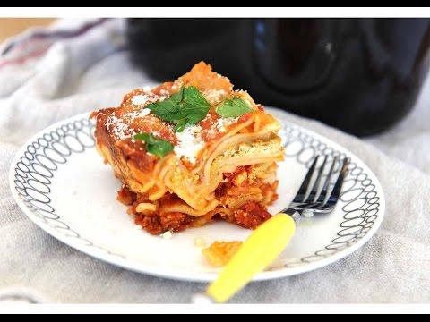 Slow Cooker Pesto Lasagna Recipe