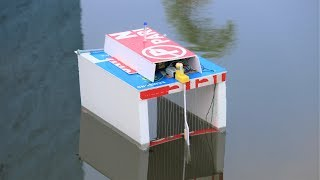 How to make a water cleaning boat - garbage eating drone