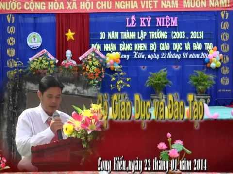 10 năm thành lập trường THCS Long Kiến - Chợ Mới - An Giang - phần 1