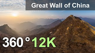 Great Wall of China Jiankou and Jiaoshan 12K VR aerial 360 video