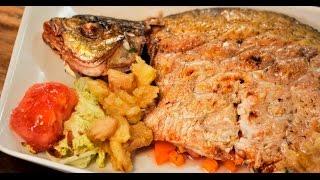 Фаршированный лещ с яблочным соусом | Рыба и гриль