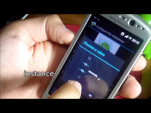 Video of Slideshow (Homescreen widget)