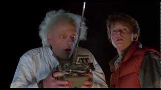 Back To The Future - 1985 - Delorean Time Machine 88 MPH [HD]