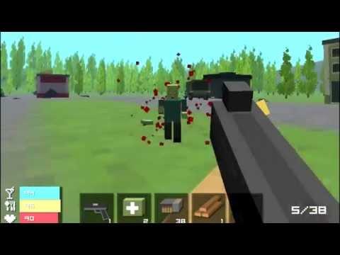 Обзор ИГРЫ ЗОМБИ БЛОК 3D графика как в MINECRAFT (видео)