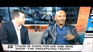 Тайсон послал ведущего нах в прямом эфире/Mike Tyson