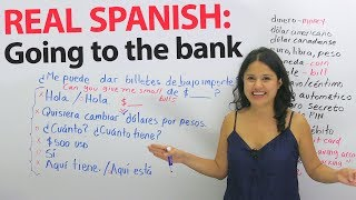Money, exchange, and banking vocabulary & phrases in Spanish