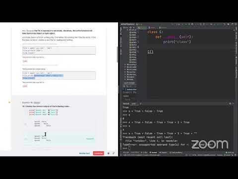Python Certification PCAP Mock Exam - 4 - YouTube