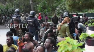 Spain: Refugees receive assistance after scaling Ceuta border fence