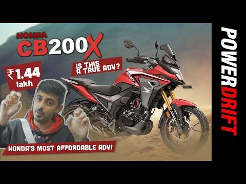 Honda CB200X | India's smallest Adventure Tourer? | PowerDrift