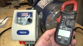 LEESON 1HP AC Motor With TECO Frequency Controller, 3 Phase