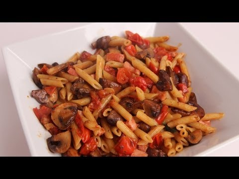 Pennette with Ham and Mushrooms Recipe – Laura Vitale – Laura in the Kitchen Episode 350