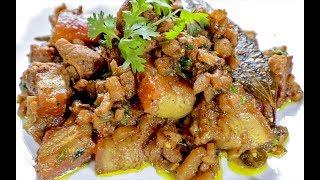Bodo Style Pork Recipe with Banana Stem | Oma Khaji | Northeast Indian Recipes | Bodo Pork Recipe