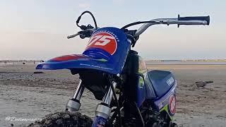 preview picture of video 'Grasstrack kid training beach pasir padi...Yamaha PW50+KTM65+ATV ..latihan di minggu ke 2...'