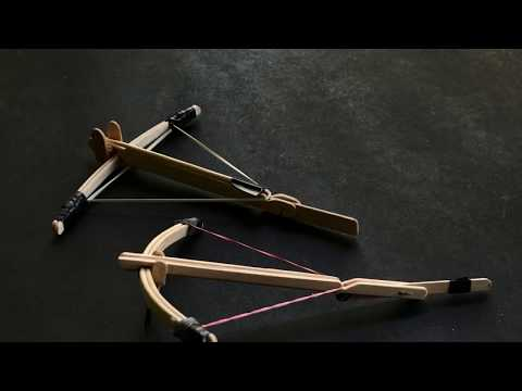How to Make a Powerful Mini Crossbow   Very easy - смотреть