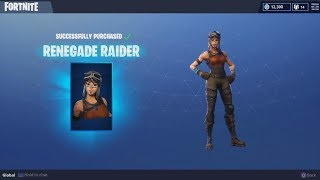 Buying The Renegade Raider & Raiders Revenge | Fortnite Season Shop 1