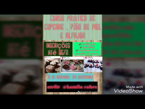 Curso de cupcake ,pão de  mel e alfajor em Araputanga dia 15/11/17