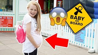 13 YEAR OLD WEARS PREGNANCY BUMP FOR A DAY! 🤰😱