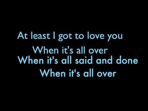 Alicia Keys- When It's All Over Lyrics