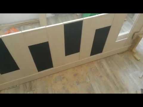 Замена стекла в царговой двери