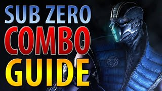 SUB ZERO COMBO GUIDE - MORTAL KOMBAT X - EASY TO ADVANCED!!!