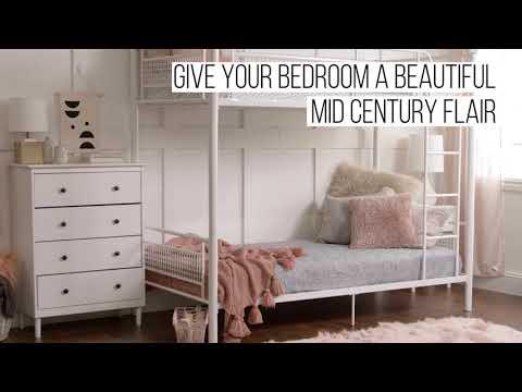 Video for White Four Drawer Dresser