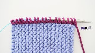 How To Pick Up And Knit On Garter Stitch For Beginners
