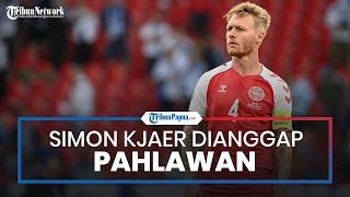 Simon Kjaer Disebut Pahlawan saat Eriksen Kolaps di Pertandingan Denmark vs Finlandia