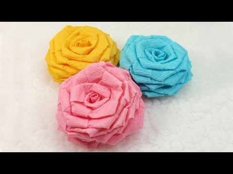 How to make crepe paper flowers video images flower decoration ideas crepe paper roses easy video tutorial how to make easy large paper flowers mightylinksfo mightylinksfo