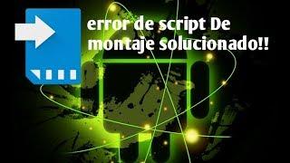 Error Script De Montaje Link2SD Solucionado 2018!!