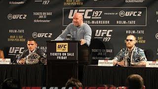 UFC 197: dos Anjos vs. McGregor Press Conference  (FULL)