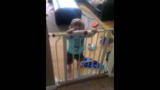 Baby can unlock the gate