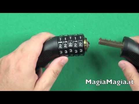 Come cambiare la combinazione al lucchetto Combination Lock Push-Up