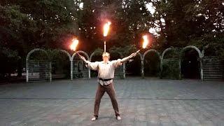 Feuerjonglage (Ausschnitte)