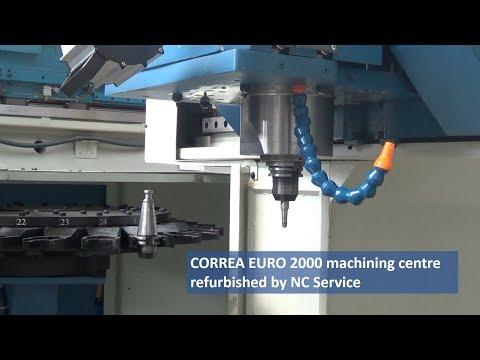 CORREA EURO 2000 machining centre refurbished by NC Service