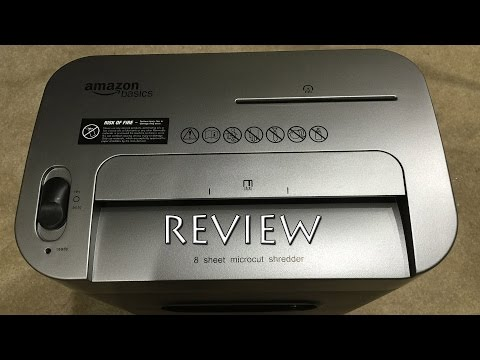 AmazonBasics 8-Sheet High-Security Micro-Cut Shredder Review in 4K