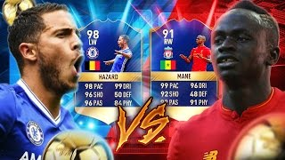 FIFA 17: HAZARD 98 VS MANE 91 TOTS SQUAD BUILDER SHOWDOWN 😱🔥