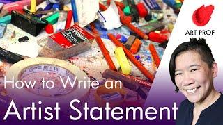 RISD Art Professor Explains How to Write an Artist Statement