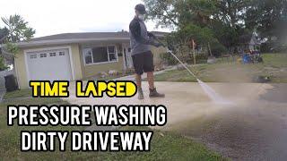 $275 PRESSURE WASHING JOB RECAP (TIME LAPSED) Power Washing Driveway