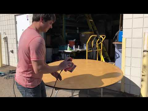 Refurbishing Our Event Rental Tables