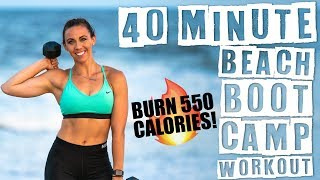 40 Minute Beach Boot Camp Workout  by Sydney Cummings