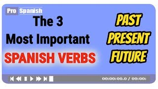 Learn TOP 3 SPANISH VERBS - in Past, Present, Future